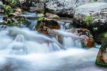 Mountain Rocky River Flow. Lon...