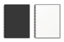 Notebook Spiral Mockup. Realis...