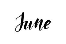 Inspirational Handwritten Brush Lettering June