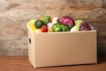 Fresh Vegetables In Cardboard ...