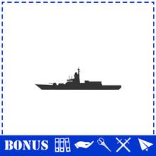 Warship Icon Flat