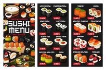 Japanese Sushi Roll, Nigiri An...