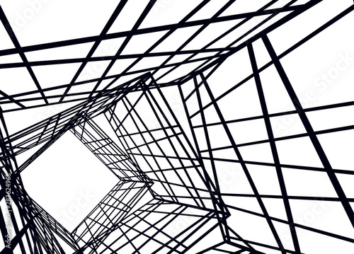 Stampa su Tela structure building construction. Industrial background