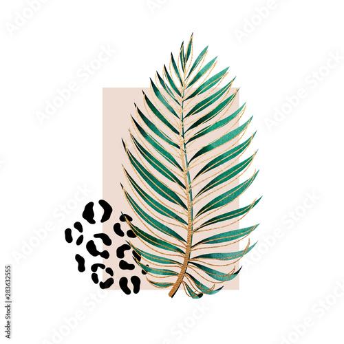 streszczenie-sklad-roslin-tropikalnych-zloty-kontur-figury-geometryczne-i-wzor-zwierzat