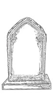 Cemetery Tombstone Made From S...