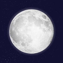 Realistic Full Moon Isolated. ...