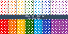Rainbow Colored Polka Dots Vec...