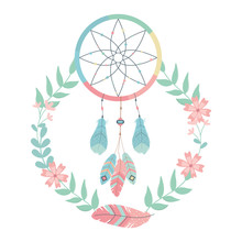 Isolated Boho Dream Catcher De...