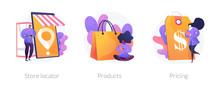 Internet Shop Web Icons Set. G...