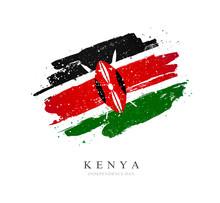 Kenya Flag. Vector Illustratio...