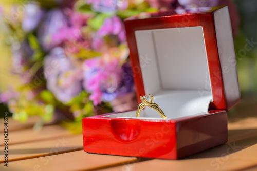 Vászonkép anillo matrimonio