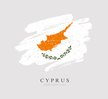 Flag Of Cyprus. Vector Illustr...
