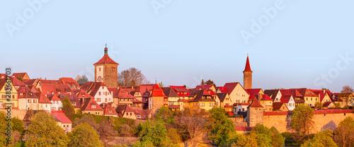 Fototapeta  Historic town at Rothenburg Ob Der Tauber, Franconia, Bavaria, Germany