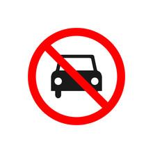 No Car Allowed Prohibition Vec...