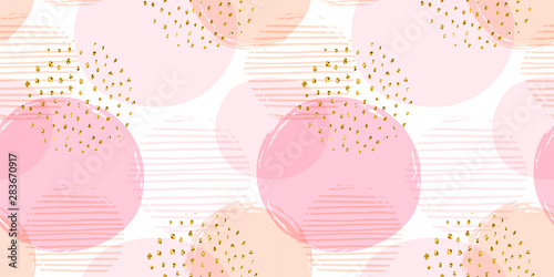 fototapeta na drzwi i meble Abstract geometric seamless pattern with circles. Vector