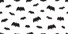 Bat Seamless Pattern Vector Ha...