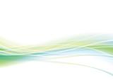 曲線 波 緑 背景