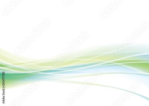 曲線 波 緑 背景 #283677788