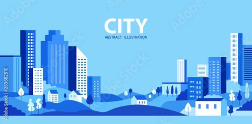 Slika na platnu City skyline Vector illustration