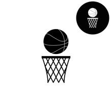 Basketball  - White Vector Icon