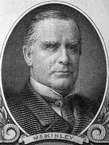 William McKinley a portrait from old American dollars Fototapet