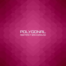 Red Burgundy Heart Polygonal Background And Gradient, Vector Illustration Suitable For Valentine's Day.