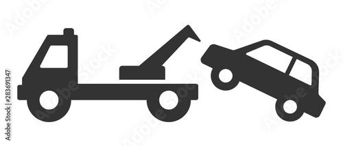 Fotografía  Car tow icon or no parking symbol