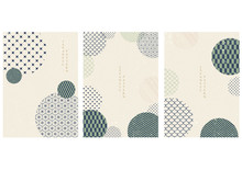 Japanese Pattern With Geometri...