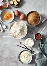 Baking Ingredients: Flour, Egg...