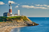 Fototapeta Nowy Jork - Montauk Lighthouse and beach, Long Island, New York, USA.