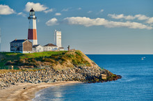 Montauk Lighthouse And Beach, ...