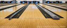 Bowling Wooden Floor With Lane...