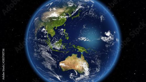Fototapeta Planet Earth done with NASA textures obraz