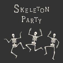 Skeleton Party. Dancing Human ...