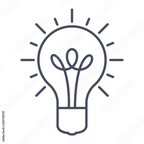 Innovative idea modern stylish icon with light bulb Wallpaper Mural