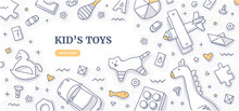 Kid's Toys Doodle Background C...