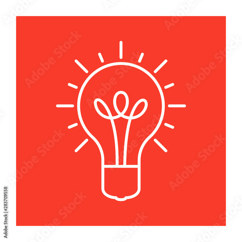 Innovative idea modern stylish icon with light bulb Canvas Print