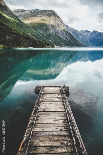 Lovatnet Lake views around Geiranger, in Norway