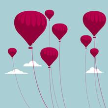 Vector Drawn Hot Air Balloon. ...