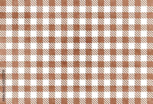 Fotografie, Obraz  Watercolor checked pattern.