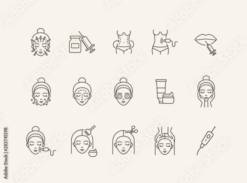 Obraz Skin icon set - fototapety do salonu