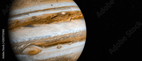 Photo the planet jupiter (3d rendering