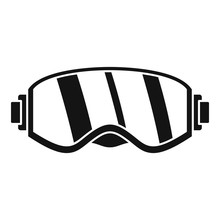 Ski Glasses Icon. Simple Illustration Of Ski Glasses Vector Icon For Web Design Isolated On White Background