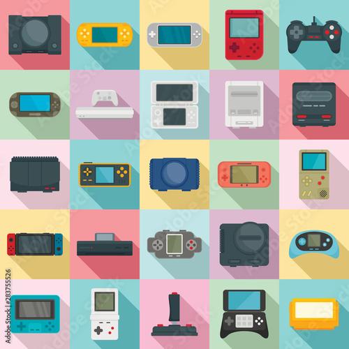 Photo  Console icons set