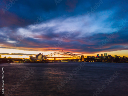 Fototapety, obrazy: Spectacular View of Sydney Opera House During Sun Set