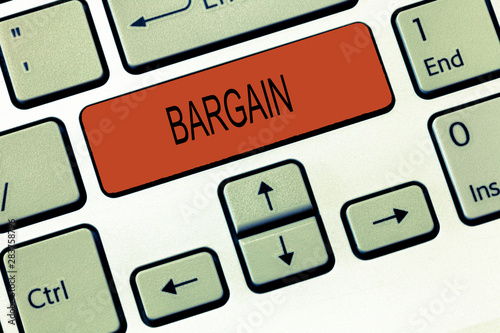Photo Word writing text Bargain