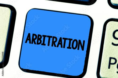 Handwriting text writing Arbitration Canvas Print