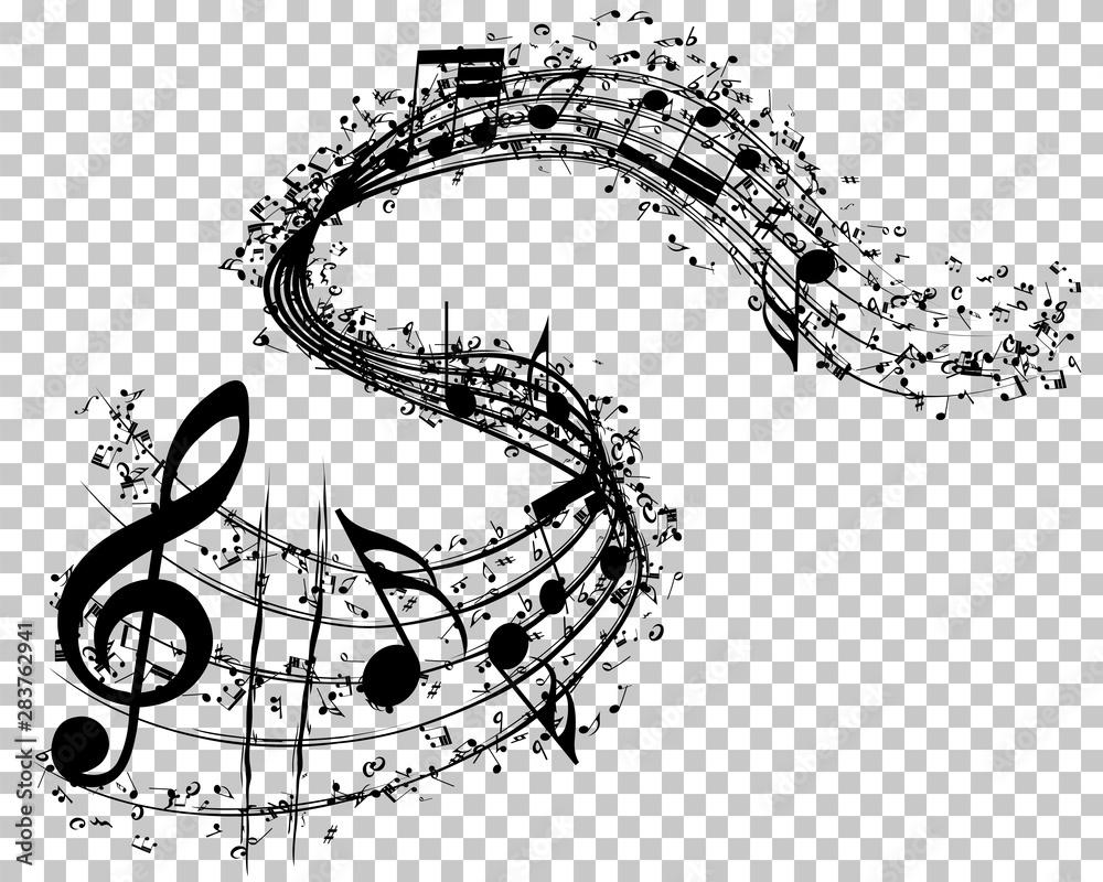 Fototapeta Musical Notes Background