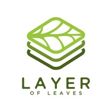 Vector Logo Abstract Layered Leaves