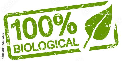green stamp 100% BIOLOGICAL Wallpaper Mural